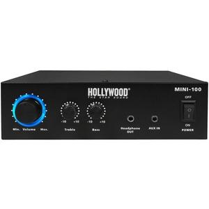 100 Watt DJ PA Kompakt Verstärker Party Musik-Equipment Endstufe AUX Anlage Hollywood Mini 100