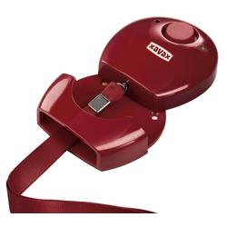 Hama Hama Personen-Alarm Rot Hand-Alarm Alarmanlage Notfall-Alarm Panik Schutz-Alarm Einbrecher Alarmsirene (einfache Installation, LED-Außenleuchte, Stift-Mechanismus)