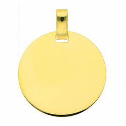 Adelia´s Kettenanhänger 333 Gold Gravurplatte Anhänger Ø 18 mm