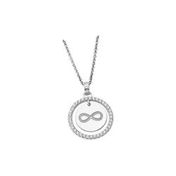LOTUS SILVER Silberkette JLP1954-1-3 Lotus Silver Unendlich Halskette (Halsketten), Damen Kette Unendlich aus 925 Sterling Silber, silber, weiß