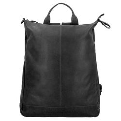The Chesterfield Brand Wax Pull Up Manchester Rucksack Leder 40 cm zwart