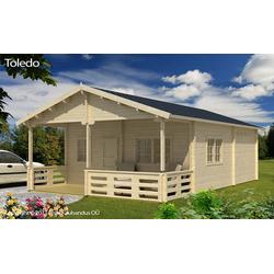 Blockhaus Modell Toledo-D 70 mit Schlafboden, ohne Imprägnierung