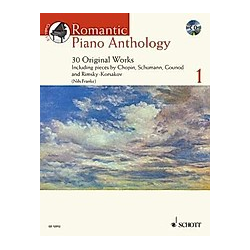 Romantic Piano Anthology  w. Audio-CD - Buch