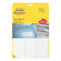 420er-Pack Adressaufkleber »3348« weiß, Avery Zweckform