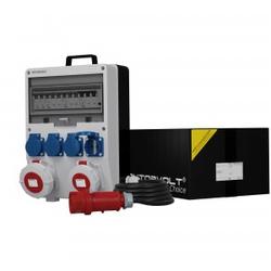 Stromverteiler TD-S/FI 32A 16A 4x230V IP54 SKH Kabel 5x4mm2 Doktorvolt 9733