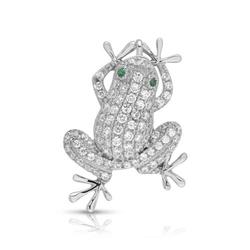 925 Silber Anhänger Frosch Zirkonia