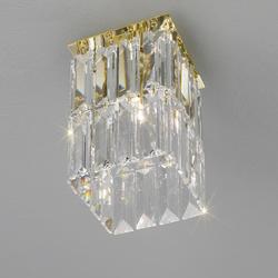 Spectrakristall-Deckenleuchte Prisma von Kolarz® 12x12cm 24Karat vergoldet Prisma Stretta gold/klar, 24 Karat  vergoldet 314.11M.3