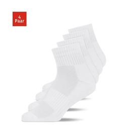 SNOCKS Laufsocken Mid Running Socks Herren & Damen (4-Paar) weiß 35 - 38