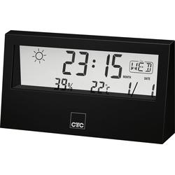 CLATRONIC CTC WSU 7022 Wetterstation mit Uhr schwarz Funkwetterstation