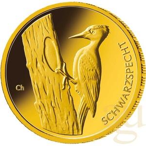 20 Euro Goldmünze Heimische Vögel - Schwarzspecht 2021 (G)