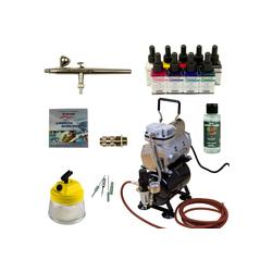 Airbrush-City Druckluftwerkzeug Custom Painting Airbrush - Ultra Airbrushpistole - Sparmax TC-610H-n Kompressor - Kit 9309, (1-St)