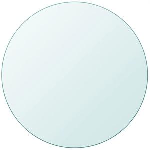 Tidyard- Ersatzteil Rund Glasplatte Tischplatte aus gehärtetem Glas Transparent