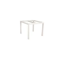 Stern Gartentisch Aluminium/Teak 80x80 cm Weiß Old Teak
