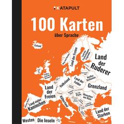 100 Karten über Sprache: Buch von KATAPULT-Verlag