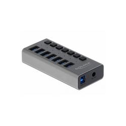 Delock USB 3.0 Hub mit 7 Ports + Schalter USB-Kabel