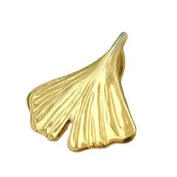 Gallay Kettenanhänger Anhänger 12mm Ginkgoblatt glänzend 9Kt GOLD (inkl. Schmuckbox), Goldschmuck für Damen