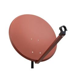 PremiumX PXA100 Satellitenschüssel 100cm ALU Ziegelrot Satellitenantenne SAT Spiegel mit LNB Tragarm und Masthalterung SAT-Antenne