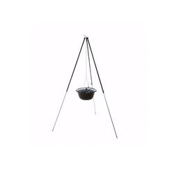 acerto® Feuerstelle acerto® Gulaschkessel 10L + Dreibein-Gestell (180cm)