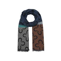 Logo-Schal mit Baumwolle und Wolle Codello dark blue