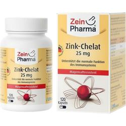 Zink-Chelat 25 mg in Magensaftresistent.veg.Kap.