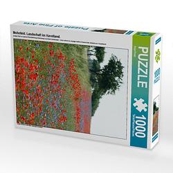 Mohnfeld. Landschaft im Havelland. Lege-Größe 48 x 64 cm Foto-Puzzle Bild von Anja Frost Puzzle