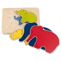 Schichtpuzzle - Elefant