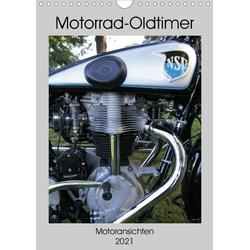 Motorrad Oldtimer - Motoransichten (Wandkalender 2021 DIN A4 hoch)