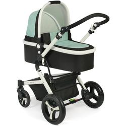 CHIC4BABY Kombi-Kinderwagen Passo, mint, 15 kg schwarz Kinder Kombikinderwagen Kinderwagen Buggies