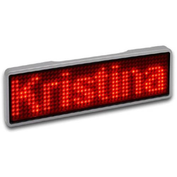 Sertronics LED-Namensschild Rot 44 x 11 Pixel (B x H x T) 93 x 30 x 6mm 125906
