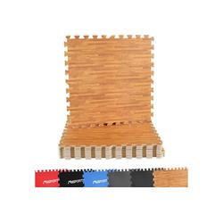 MSports® Bodenmatte Bodenschutzmatten Set Premium - 8 Schutzmatten in verschiedenen Farben 3,175m² Bodenschutz 60x60 cm Stärke: 1,0 cm Puzzlematten Gymnastikmatte