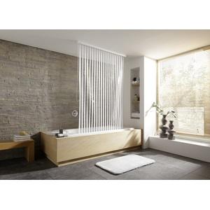 Kleine Wolke Duschrollo für Leerkassette Weiß gestreift 128 cm x 240 cm