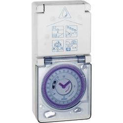 Grässlin 16.27.0001.1 Steckdosen-Zeitschaltuhr analog Tagesprogramm IP54 EIN/AUTO/AUS-Programm