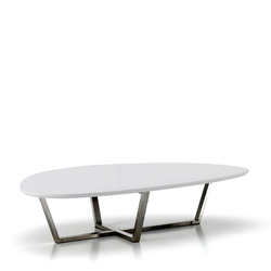 Design Esstisch in Tropfenform 140 cm breit