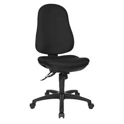 Lüllmann Drehstuhl Bürodrehstuhl Bandscheiben Schreibtischstuhl Drehstuhl Bürostuhl Max. Nutzgewicht: 110 kg, max. Nutzgröße: 1,92 m - Spezial-Bandscheibensitz für komfortables Sitzen schwarz