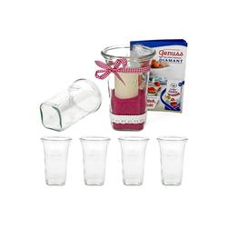 MamboCat Vorratsglas 6er Set Weck Quentin 795 ml mit Rezeptheft