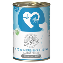 Dr. Link Hundefutter Spezial-Diät Herzinsuffizienz und Niereninsuffizienz - 6  x 400 g