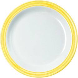 Dessertteller 19,5 cm Bistro - weiss/gelb