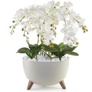 Künstliche Weiße Orchideen XLGesteck Dekotopf Orchidee Dekoblume | TOP Qualität | Handarbeit
