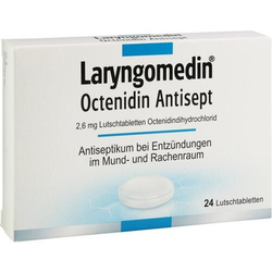 LARYNGOMEDIN Octenidin Antisept 2,6 mg Lutschtabl. 24 St.