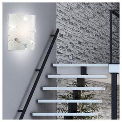 etc-shop Wandstrahler, 4 Watt LED Wand Leuchte Kristall Beleuchtung Glas Muster Lampe klar