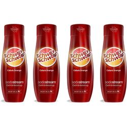 SodaStream Getränke-Sirup SchwipSchwap (Cola & Orange), 4 Stück, für bis zu 9 Liter Fertiggetränk