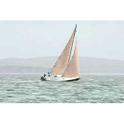 Deco-Canvas Bild - Segelboot 116 x 76 cm