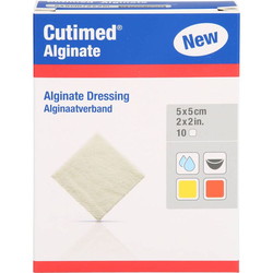 CUTIMED Alginate Alginatkompressen 5x5 cm 10 St.