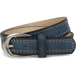 styleBREAKER Nietengürtel Gürtel mit Lochnieten Gürtel mit Lochnieten blau 95cm