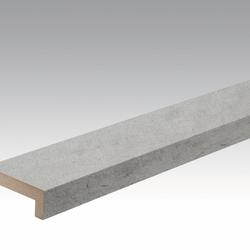 Meister Sockelleisten Winkelabdeckleisten Beton 4045 - 2380 x 60 x 22 mm -