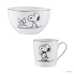 BUTLERS PEANUTS Geschirr-Set 4-tlg. Snoopy Food Present & Coffeetime
