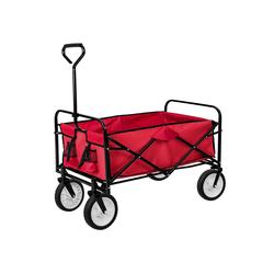 tectake Bollerwagen Faltbarer Bollerwagen rot
