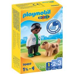 PLAYMOBIL® 1 2 3 Tierarzt mit Hund