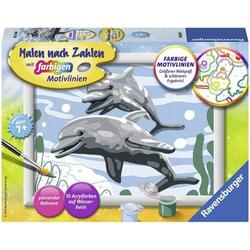 Malen nach Zahlen - Freundliche Delfine