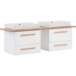 Schildmeyer Waschtisch Duo, 165 cm Breite weiß
